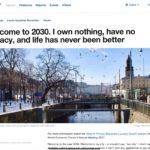 Agenda 2030: Sin propiedad, privacidad, dinero, libertad, carne o mascotas